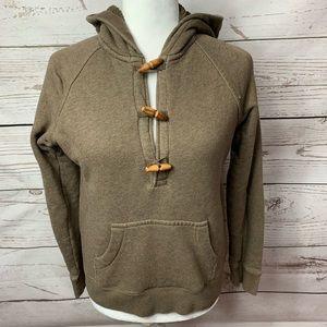 J. Crew Vintage Fleece Wood Button Hoodie